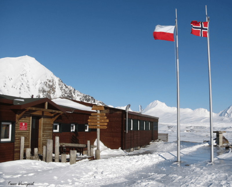 research station on Svalbard